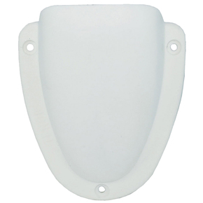 White ABS Clamshell Vent 60 x 55 x 21mm