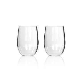 Tritan Stemless Wine Glass Boxed 2-Pack
