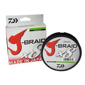 X8 J Braid Chartreuse Line Braid 10LB x 300M
