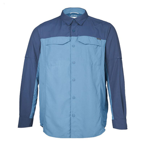 Mens Silver Ridge Long Sleeve Shirt - Steel Zinc