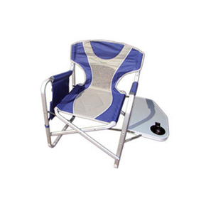Kingsize Deluxe Directors Camping Chair w/Table Arm