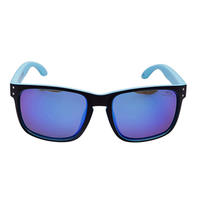 Polarised Sunglasses - Black/Blue with Blue Lens
