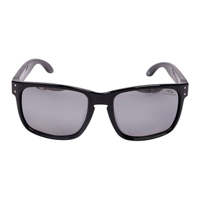 Polarised Sunglasses - Black with Mirror Lens