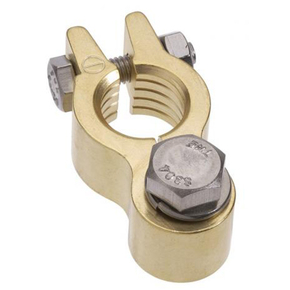 Premium Forged Brass Battery Terminal-Negative - 3/8""