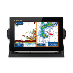 "GP-1971 DB9 Deep Blue Chirp GPS/FishFinder 9"" W/C-MAP & TM260 Trans (Display Mod"
