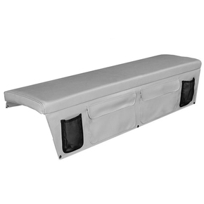Seat Cushion (Squab) with Storage Pocket 30 x 120cm - Beige Grey