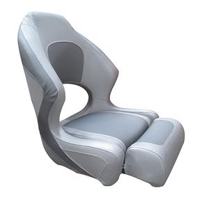 Ocean 52 Deluxe Seat Flip Up Seat - Silver/Grey