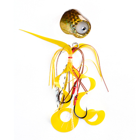 LED Flashing Kabura Slider Jigs - Yellow Brown