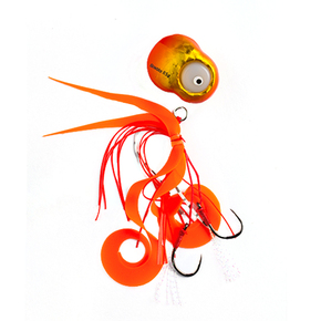 LED Flashing Kabura Slider Jigs - Orange