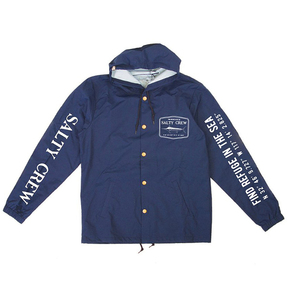 Stealth Snap Hooded Jacket Navy Size Large
