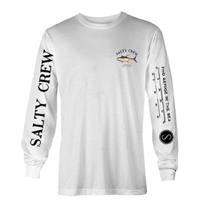 Ahi Mount Long Sleeve T-shirt White