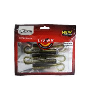 "Livies Softbait 4"" Curly Tail - Golden Nugget 5-pk"