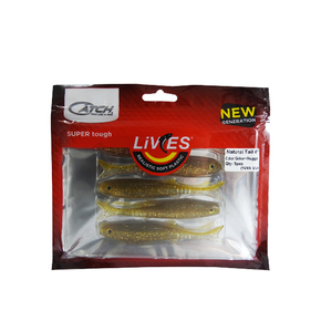 "Livies Softbait 4"" Natural Tail - Golden Nugget 5-pk"