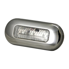 Waterproof SS White 3 LED Mini Courtesy/Step Light - 12v