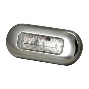 Waterproof SS White 3 LED Mini Courtesy/Step Light - 12v