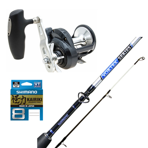Torium 16PG / Vortex 5'5 30/50lb Jig Combo with Braid