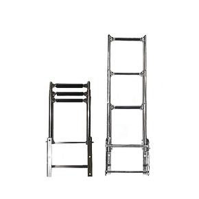 Above Platform 3 Step Telescopic Boarding Ladder - 316 Grade SS