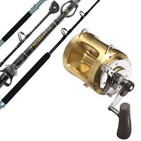 Tiagra 80w Reel with Tiagra 37kg Stand Up Roller Tip Game Rod