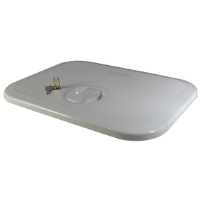 Grey ABS 1 Latch Access Hatch - 375x283mm