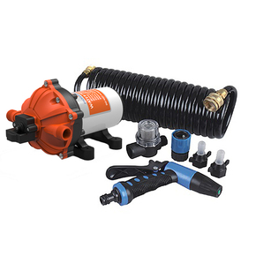 Automatic 5-Chamber Washdown Pump Set Complete 12v - 18.9LPM - 60psi (New Model)