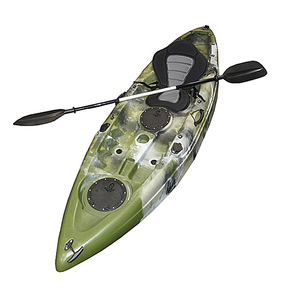 Tracker Single Kayak 2.75m with Seat & Paddle - Army Camo