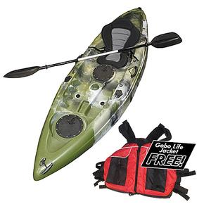 Tracker Single Kayak 2.75m with Seat & Paddle - Army Camo