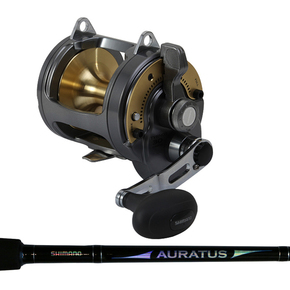 "Tyrnos 30 1SP Overhead Boat Reel with Auratus 5'6"" 15-24kg Rod"