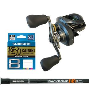 Shimano Combo Curado 200K/ Backbone 6'3 Boat Rod W/Braid