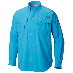 Men's Blood 'n' Guts Lightweight Longsleeve Fishing Shirt - Vivid Blue / Large