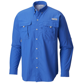Men's Blood 'n' Guts Lightweight Longsleeve Fishing Shirt - Vivid Blue / XXL