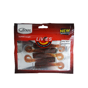 "Livies Softbait 4"" Curly Tail - Engine oil 5-pk"