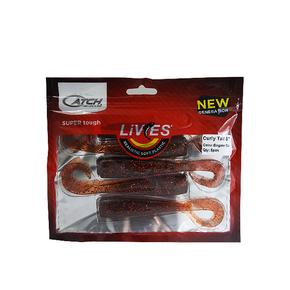"Livies Softbait 5"" Curly Tail - Engine Oil 5-pk"