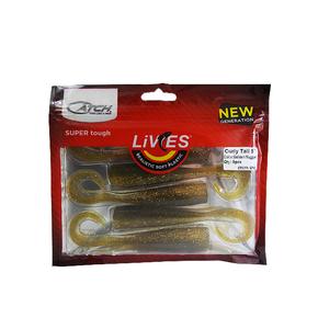 "Livies Softbait 5"" Curly Tail - Golden Nugget 5-pk"