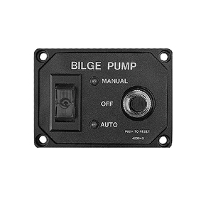 3 Way Bilge Pump Switch Panel w/Circuit Breaker - 12v/20amp