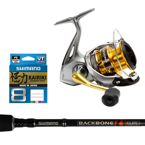 Sedona 2500FI Spinning Reel / Backbone Elite 6'3 Rod Combo 6kg with Braid