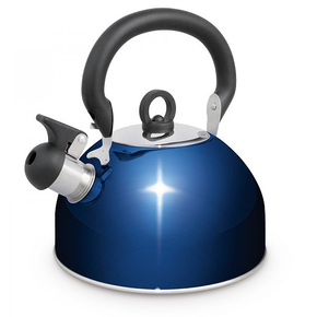 SS Deluxe Blue Whistling Kettle 4.0 Litres