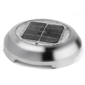 "3"" Day/Night SS Solar Vent With Nimh Battery"
