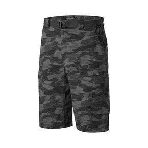 Mens Silver Ridge Cargo Shorts - Black Camo