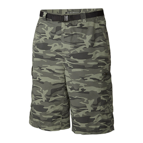 Mens Silver Ridge Cargo Shorts - Grey Camo