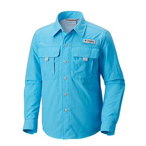 Mens Bahama 2 Long Sleeve Shirt - Riptide Blue