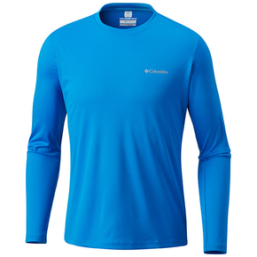 Mens Zero Rules Long Sleeve Tee Shirt - Hyper Blue