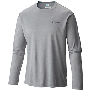 Mens Zero Rules Long Sleeve Tee Shirt - Heather Grey
