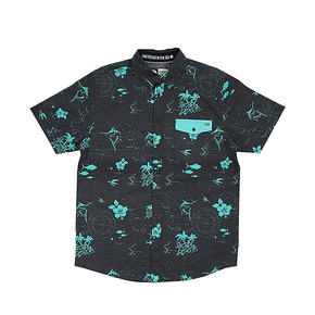 Navigator Short Sleeve Woven Black/Teal