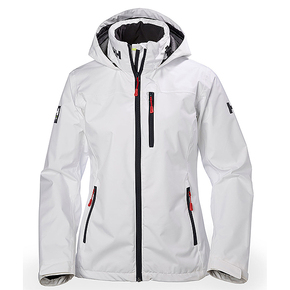 Womens Crew Hooded Jacket - White