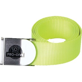 Dive Weight Belt with Stainless Steel Buckle - Yellow