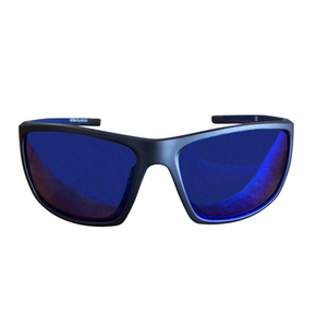 Polarised Sunglasses - Matte Black Frame - Blue Lens