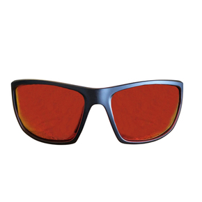 Polarised Sunglasses - Matte Black Frame - Red Lens