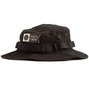 Alpha Stamped Bucket Hat - Black - OSFA