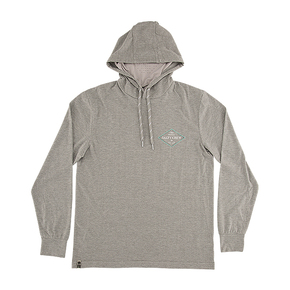 Four Corners Hooded Long Sleeve Tech Shirt - Grey