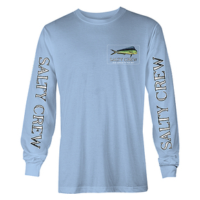 El Dorado Long Sleeve Tee Shirt - Light Blue